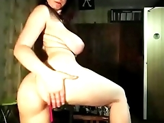 Real amateur girl with incredible body show