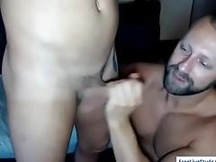 Hot stud Matt gives Steve great blowjob