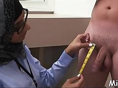 Arab oral sex job inside the shower parade-ground