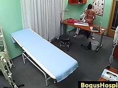 Slutty euro licked and pounded by doctor