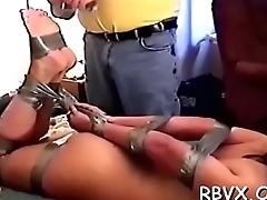Cutie manhandled by ballsy guy