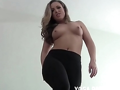 Let me swing my yoga and then I will help you cum JOI