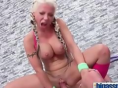 Wrestling lesson for British blonde(Barbie Sins) 03 mov-17
