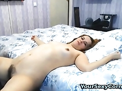 Quick Hard Fuck And Hairy Wife Got Huge Cumshot On Breast