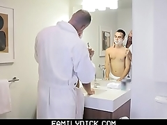 FamilyDick - Shy Son Obtain Taught By Daddy to Shave