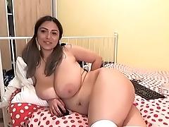 Thick fluffy slut teasing show