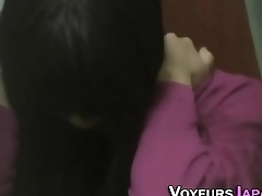 Asian babe seen rubbing