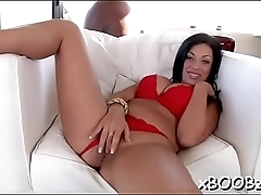 Nasty and busty bitch loves fucking
