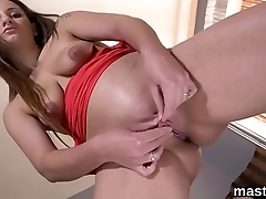 Sexy czech kitten spreads her wet twat to the strange