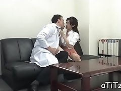 Lusty fingering for sexy tits asian