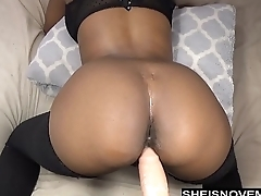 Sexy Ebony Msnovember Take Anal Dildo Doggystyle Live Webcam Thigh Stockings
