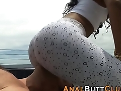 Slut sits her ass on face