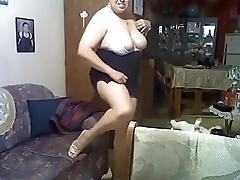 Tits out black miniskirt pantyless
