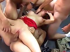 Facial-4some-BJ-Fuck-Small Tits-Cumshot-Bukkake-Jerk