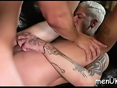 Man loves to swell up ramrod hard