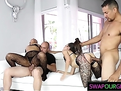 Pretty Teen Stepdaughters Swap Their Dads