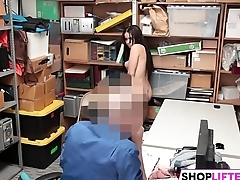 Banging Cute Brunette Gal For Theft