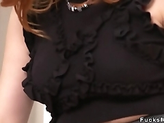 Busty redhead Russian Milf banging
