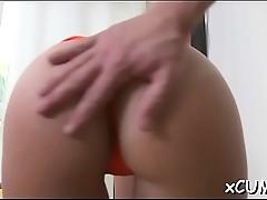 Beauty masturbates passionately