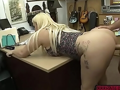 Busty neonate Nina Kayy fucks Shawns bigcock in the office