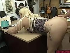 Busty neonate Nina Kayy fucks Shawns bigcock in the office