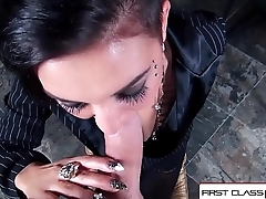 FirstClassPOV - Teen Aimee Black sucking a big dick, big booty