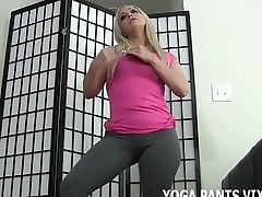 These yoga pants leave little to the imagination JOI