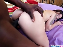 Tiny Brunette Kylie Rose  Takes BBC