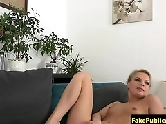 Casting european amateur jizzed on ass