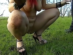 Young girl kept on a leash like an animal and humiliated