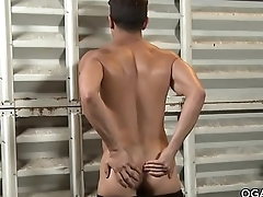 Lance Luciano strokes his huge cock