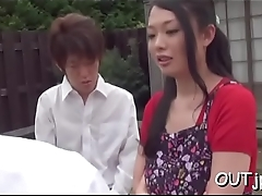 Cute oriental girls adore ramrod