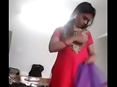 South Indian girl dress change