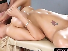 Busty woman pounded until she squirts