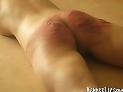 Layman russian whipping caning with the crop