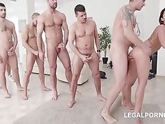 7on1 DAP Gangbang with Balls Deep Anal Princess Amirah Adara