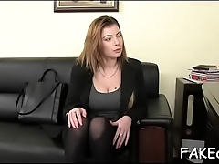 Excellent sex scene with fake agent