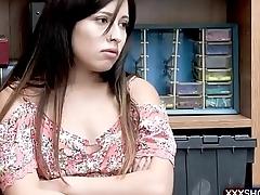 Cute latina teen shoplifter gets punish fucked hard