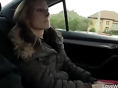 Greatest degree To Pee In Car, Pretty Lady Is Seen Peeing By Some Teenagers