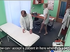 Mighty dude bonks with a doctor