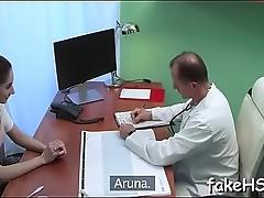 Beautiful doctor is getting screwed