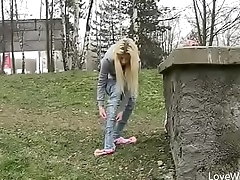 Bursting To Pee In Public, Pretty Young Girl Can'_t Skip A Wetting Accident
