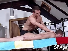 Erotic gay massage episode scene