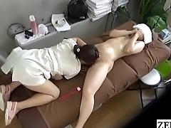 JAV CFNF lesbian massage MILF oral sex treatment Subtitled