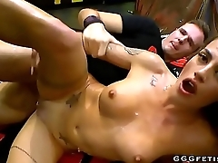 Horny chick gives blowjobs and gets facials
