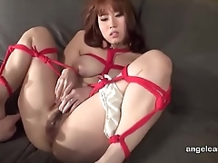 Busty Japanese girl tied up and toyed Watch stand firm by part02 on angelcamsex.com