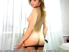 Wery hot blonde show her body in webcam
