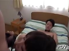Orgasmic pov scene with oriental